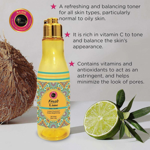 Avnii Organics Fresh Lime Skin Toner, 100ml