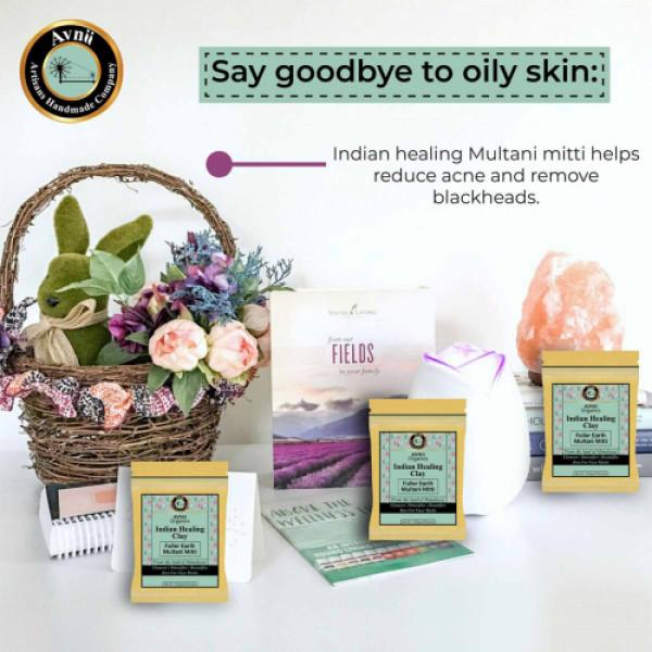 Avnii Organics Indian Healing Clay Face Pack, 500gm