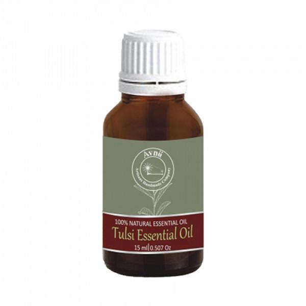 Avnii Organics Natural Tulsi Essential Oil, 15ml