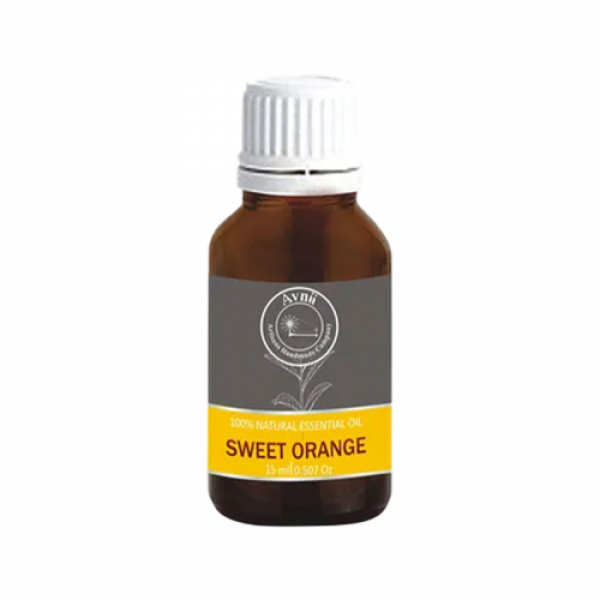 Avnii Organics Natural Orange Essential Oil, 15ml