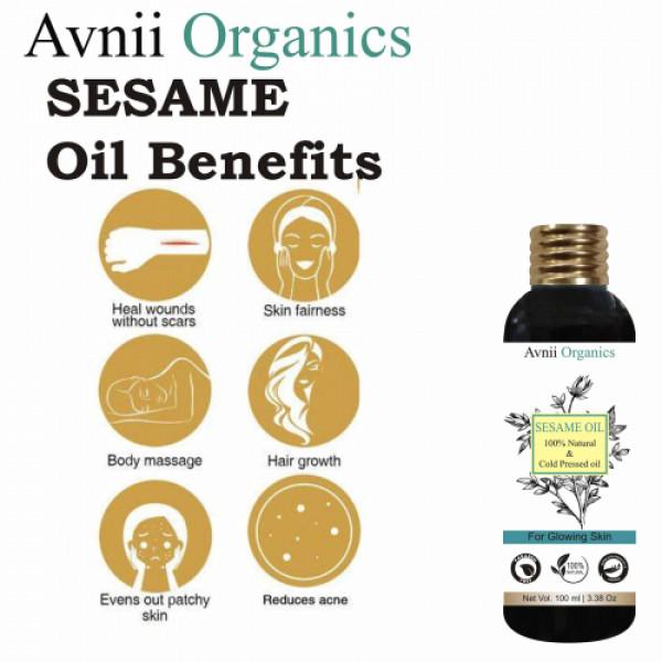 Avnii Organics Sesame Pure Cold Pressed Oil, 100ml