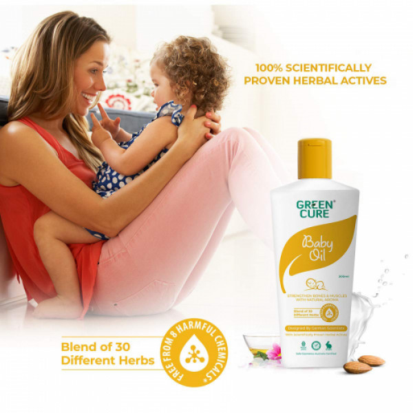 Green Cure Natural Baby Oil for Healthy Bones & Muscles, 200ml