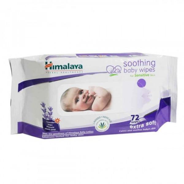 Himalaya Soothing Baby, 72 Wipes