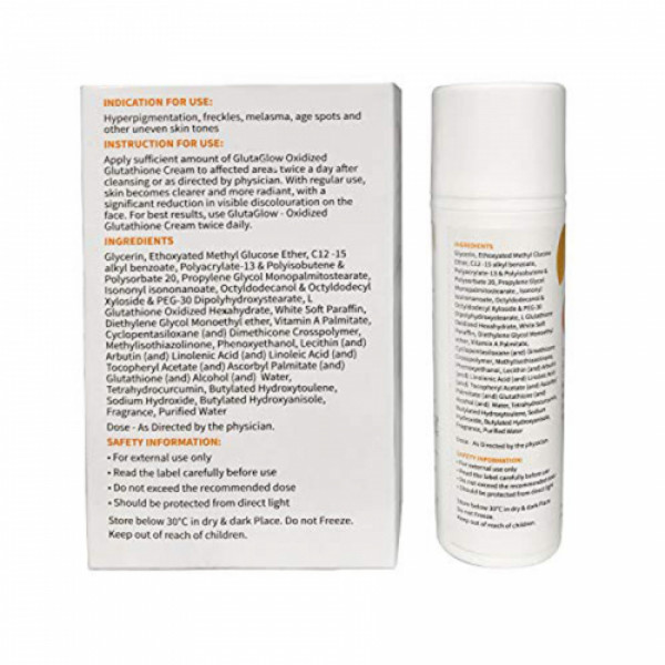 GlutaGlow Oxidized Glow Glutathione Cream, 30ml