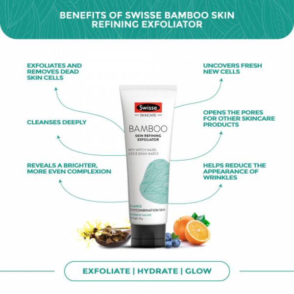 Swisse Skincare Bamboo Skin Refining Exfoliator, 125gm