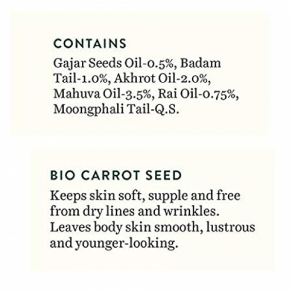 Biotique Bio Carrot Seed Anti Aging After Bath Body Oil, 120ml