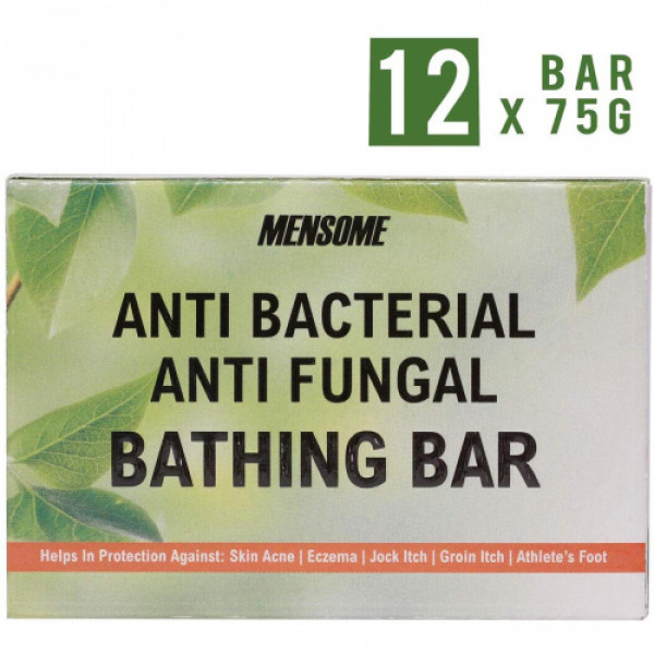 Mensome Anti Bacterial Bathing Bar, 75gm (Pack Of 12)
