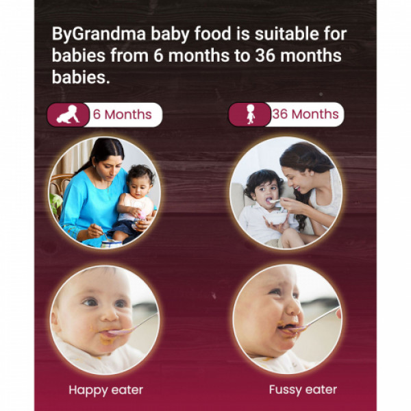 ByGrandma Beetroot With Wheat and Almonds Baby Porridge Mix, 280gm