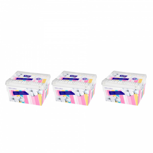 Bella Cotton Buds Box, 300 Pieces (Pack Of 3)