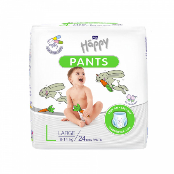 Bella Baby Happy Pants Large, 24 Pieces