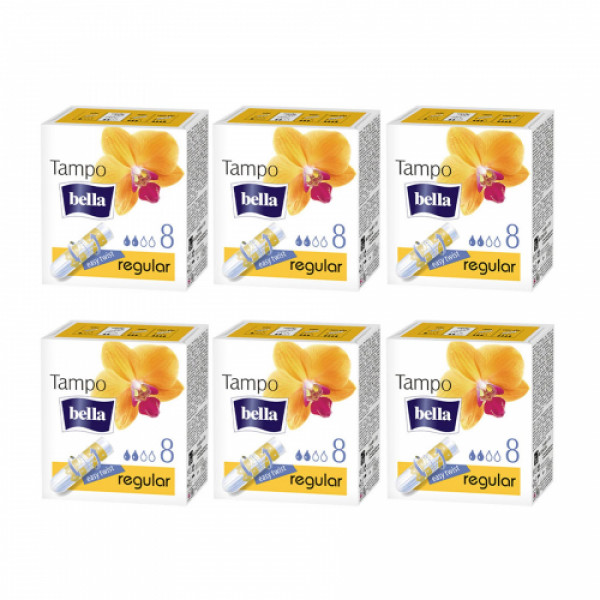 Bella Tampo Easy Twist Regular, 8 Pieces ( Pack Of 6)