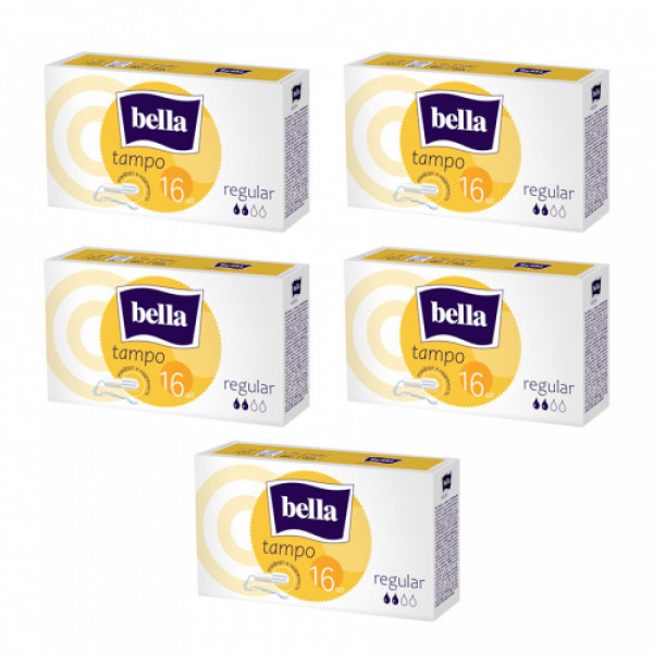 Bella Tampo Easy Twist Regular, 16 Pieces ( Pack Of 5)