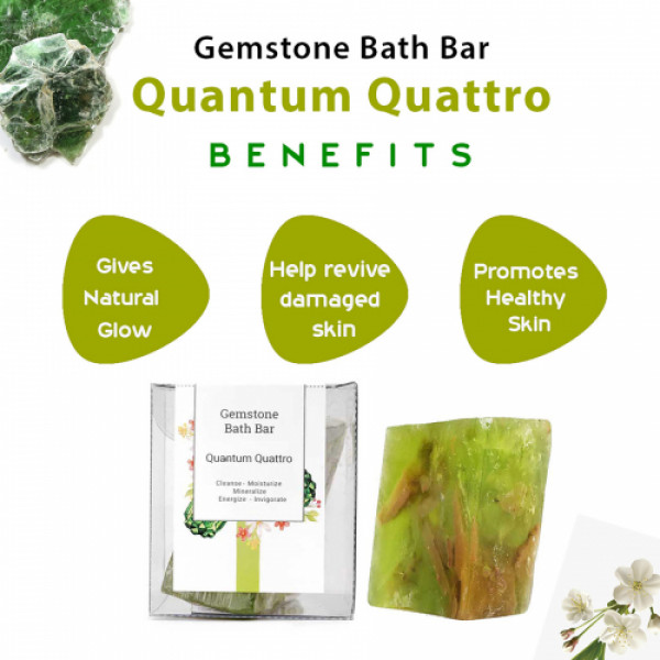 Seer Secrets Quantum Quattro Gemstone Bath Bar, 160gm