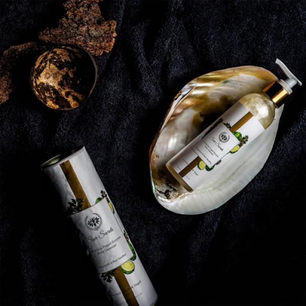 Seer Secrets Bergamot & Raw Sandhal Energizing Yogurt Enzyme Body Cleanser, 200ml