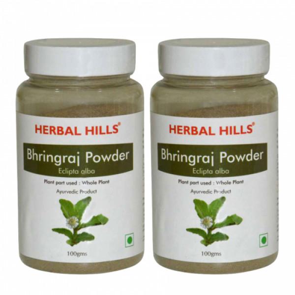 Herbal Hills Bhringraj Powder, 100gm (Pack Of 2)