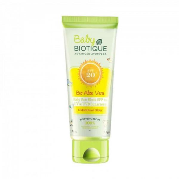 Biotique Bio Aloe Vera Baby Sun Block SPF 20 Sunscreen, 50gm