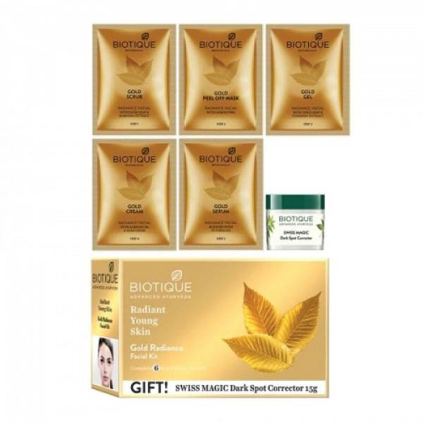 Biotique Bio Gold Radiance Facial Kit, 65gm