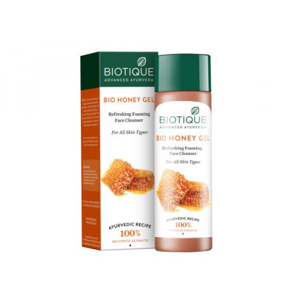 Biotique Bio Honey Gel  Hydrating Foaming Face Cleanser, 120ml