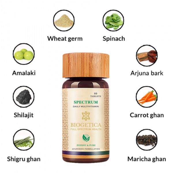 BiogeticaSpectrum - Food Based Vitamins, 80 Tablets
