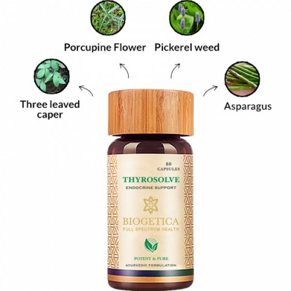 Biogetica Thyrosolve - Endocrine Support, 80 Capsules