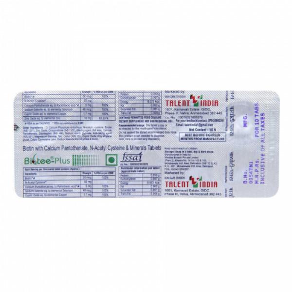 Biotee Plus, 10 Tablets