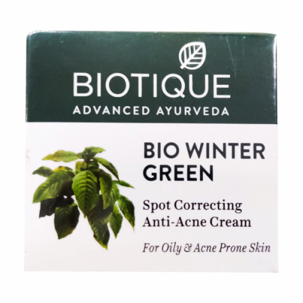Biotique Bio Winter Green Spot Correcting Anti Acne Cream, 15gm