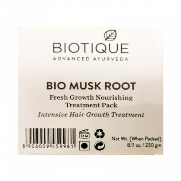 Biotique Bio Musk Root Fresh Growth Nourishing Treatment Pack, 230gm