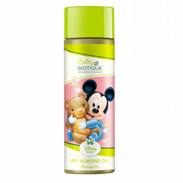 Biotique Bio Almond Mickey Massage Oil, 200ml