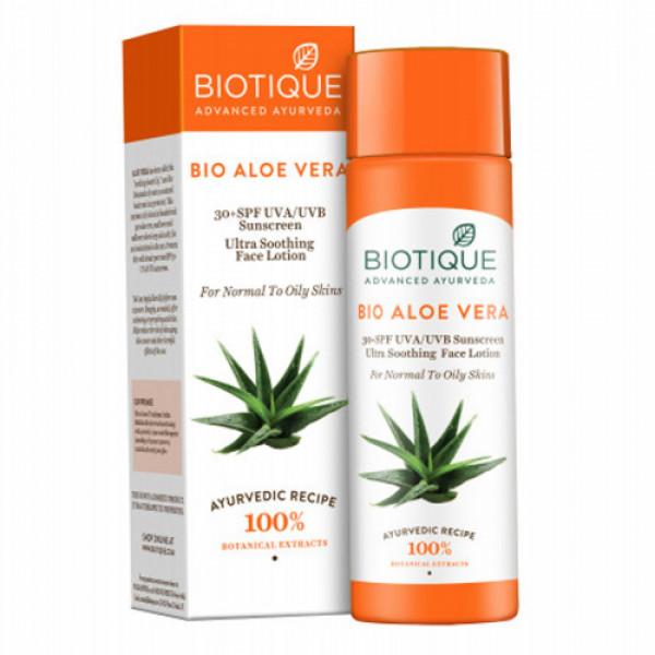 Biotique Bio Aloe Vera Lotion SPF 30 Sunscreen,120ml
