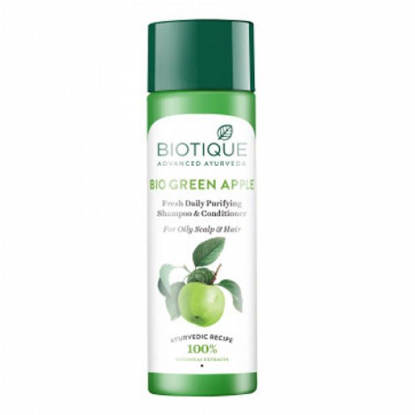 Biotique Bio Green Apple Fresh Daily Purifying Shampoo & Conditioner, 190ml