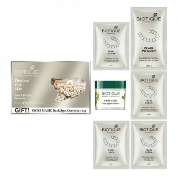 Biotique Bio Pearl White Facial Kit, 65gm