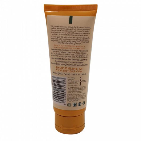 Biotique Bio Sandalwood Sunscreen Lotion, 50ml