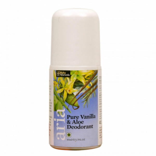 Bipha Ayurveda Aria Pure Vanilla & Aloe Deodorant, 90ml