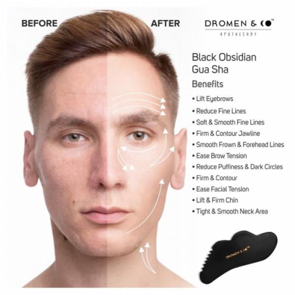 Dromen & Co Black Obsidian Gua Sha Stone For Men