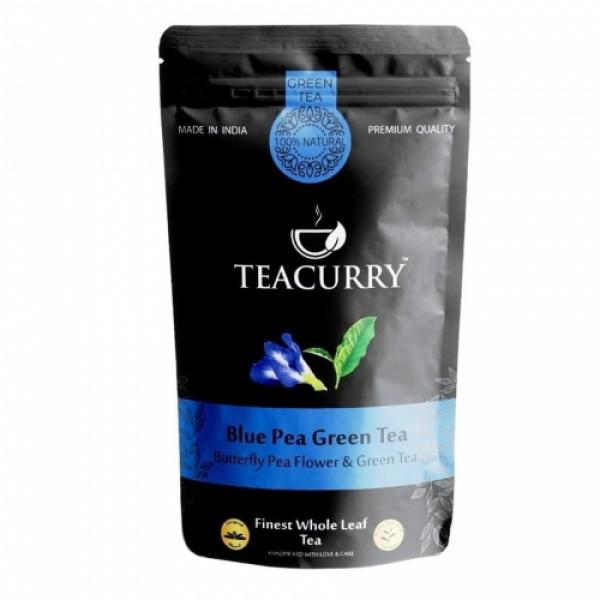 Teacurry Blue Green Tea, 60 Tea Bags