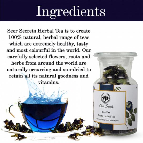Seer Secrets Blue Pea Tisane Herbal Tea, 20gm