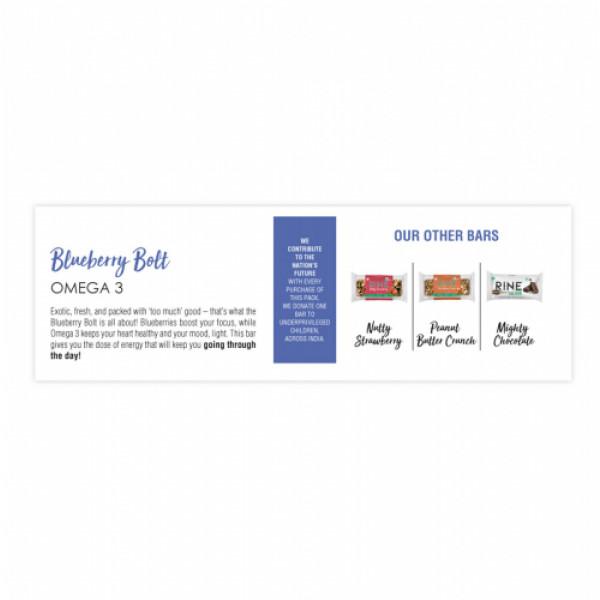 Rine Blueberry Bolt Granola Bar, 50gm (Pack Of 6)