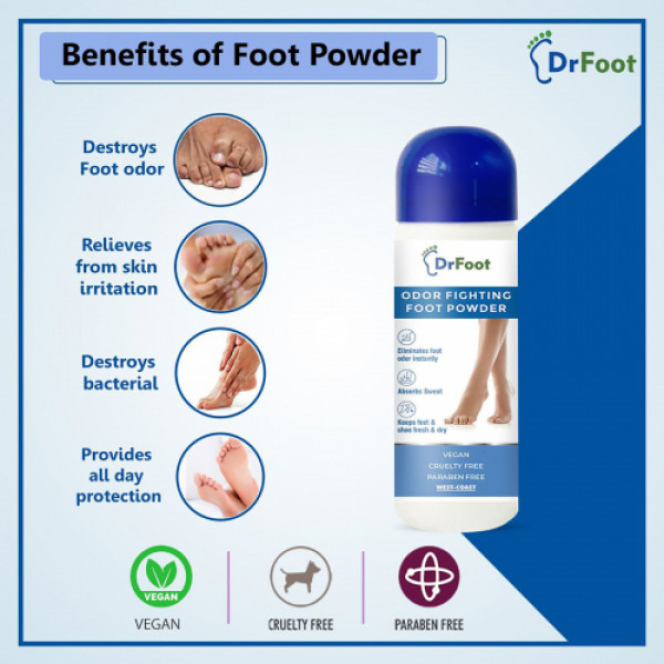 Dr Foot Odor Fighting Foot Powder, 100gm