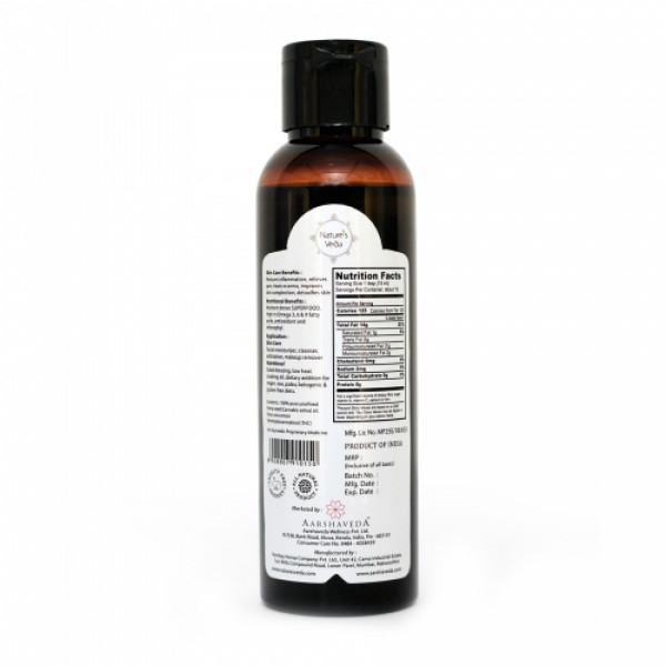 Nature's Veda Hemp Seed Oil, 120ml