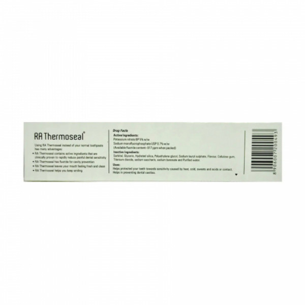 RA Thermoseal Toothpaste Fresh Mint Flavour, 100gm