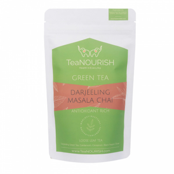 TeaNOURISH Darjeeling Masala Green Tea, 100gm