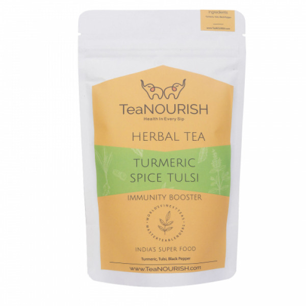 TeaNOURISH Turmeric Spice Tulsi Herbal Tea, 50gm