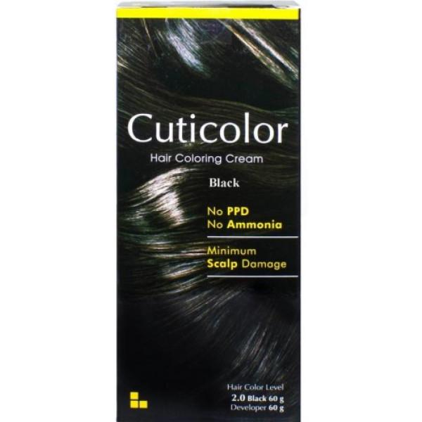 Cuticolor Hair Colour Black, 120gm
