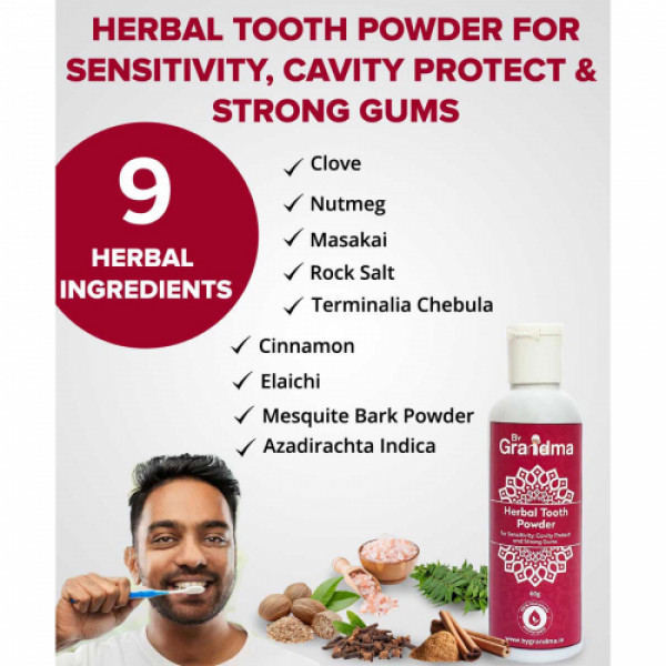 ByGrandma Herbal Tooth Powder, 60gm