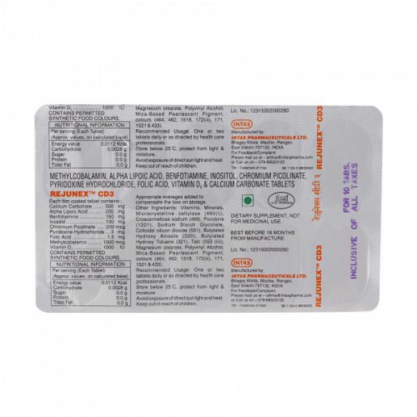 Rejunex CD3, 10 Tablets