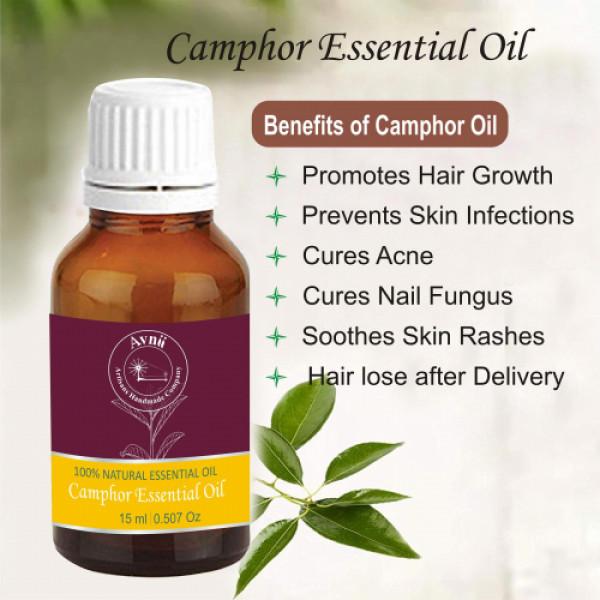 Avnii Organics Natural Camphor Essential Oil, 15ml