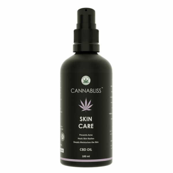 India Hemp Organics Cannabliss Skin Care CBD Oil, 100ml