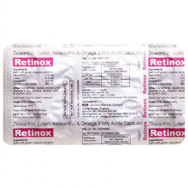 Retinox, 10 Capsules