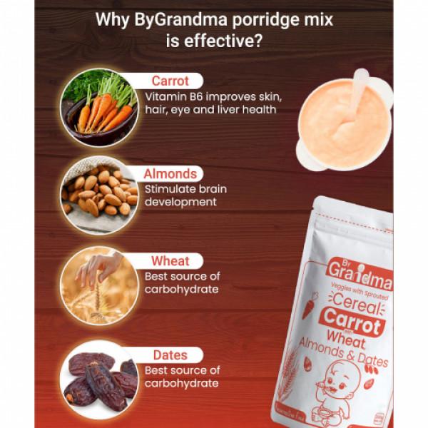 ByGrandma Carrot with Wheat, Almonds & Dates Kids Porridge Mix, 280gm