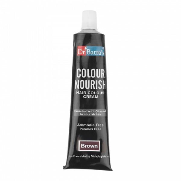 Dr Batra's Hair Vitalizing Serum With Colour Nourish Hair Colour Cream (Black) Combo Pack